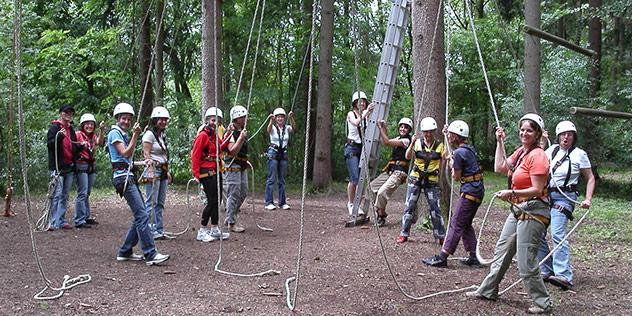Outdoor-Seminar im Klettergarten